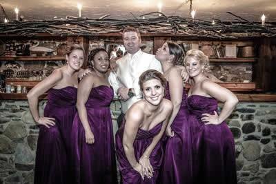 Stroudsmoor Country Inn - Stroudsburg - Poconos - Real Weddings - Groom With Bridesmaids