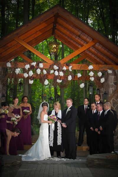 Stroudsmoor Country Inn - Stroudsburg - Poconos - Real Weddings - Everybody Gathers For Wedding Ceremony