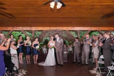 Stroudsmoor Country Inn - Stroudsburg - Poconos - Real Weddings - Bride And Groom With Wedding Party