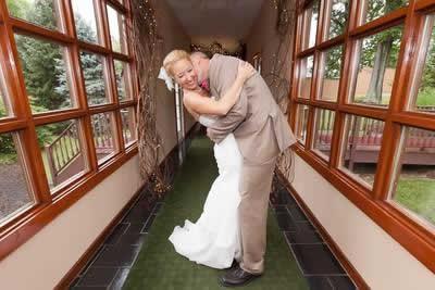 Stroudsmoor Country Inn - Stroudsburg - Poconos - Real Weddings - Groom Kisses Bride