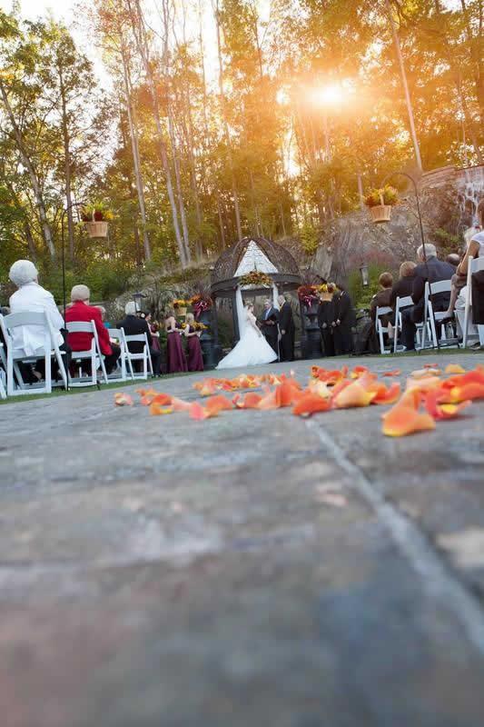 Stroudsmoor Country Inn - Stroudsburg - Poconos - Classic Wedding Celebrations - Bride And Groom Under Gazebo