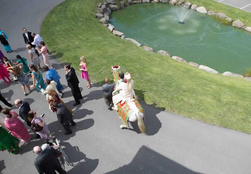 Stroudsmoor Country Inn - Stroudsburg - Poconos - Indian Wedding - Wedding Celebration Continues Outside