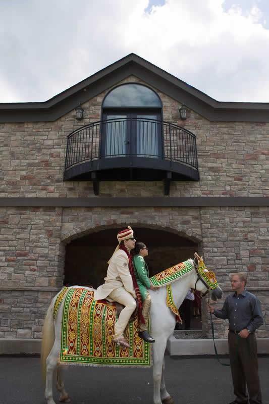 Stroudsmoor Country Inn - Stroudsburg - Poconos - Indian Wedding - Groom With Child On Horse