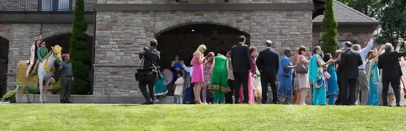 Stroudsmoor Country Inn - Stroudsburg - Poconos - Indian Wedding - Guests Continue To Celebrate - Guests Celebrating