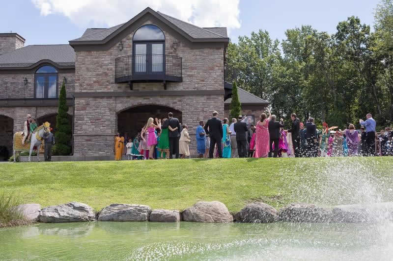 Stroudsmoor Country Inn - Stroudsburg - Poconos - Indian Wedding - Guests Celebrating
