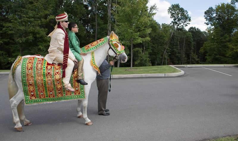 Stroudsmoor Country Inn - Indian Wedding - Groom Posing For Picture - Poconos