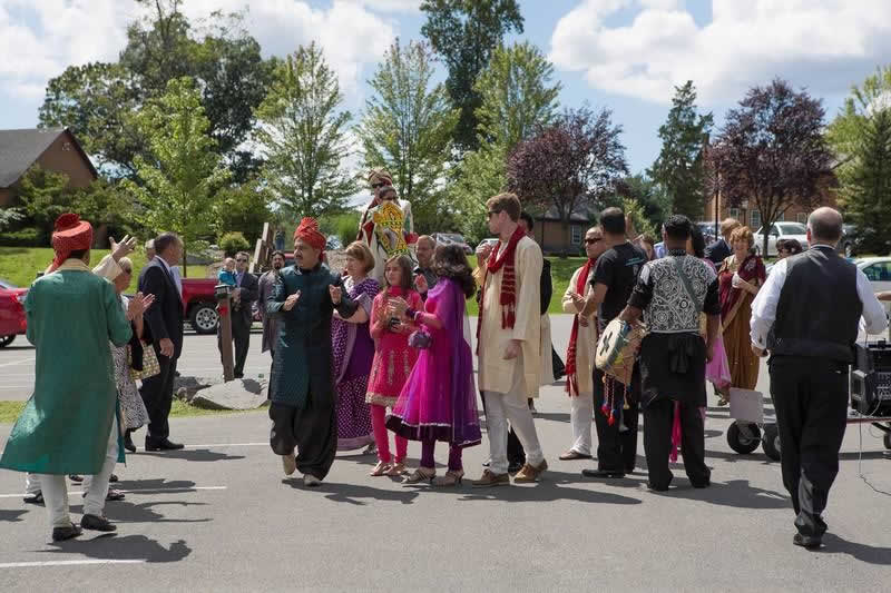 Stroudsmoor Country Inn - Indian Wedding - Family Joined Outside - Poconos
