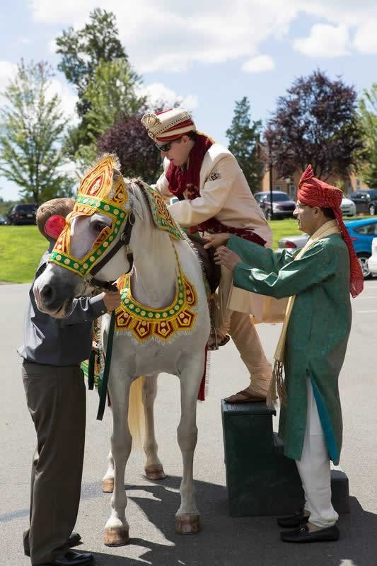 Stroudsmoor Country Inn - Stroudsburg - Indian Wedding - Poconos - Groom on Horse