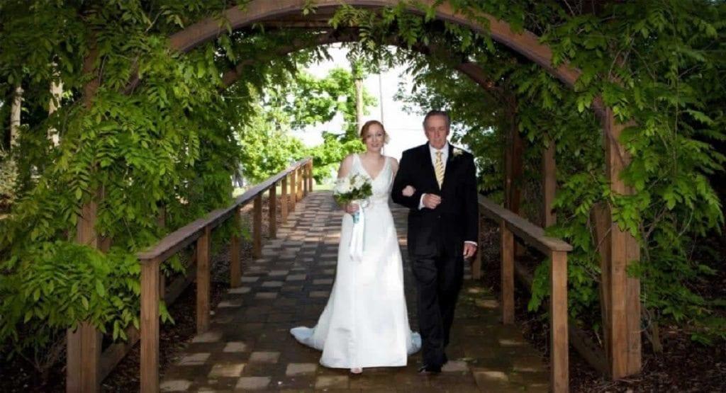 Stroudsmoor Country Inn - Stroudsburg - Poconos - Intimate Wedding - Bride With Father