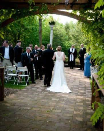 Stroudsmoor Country Inn - Stroudsburg - Poconos - Intimate Wedding - Bride Taking Walk To Join Groom