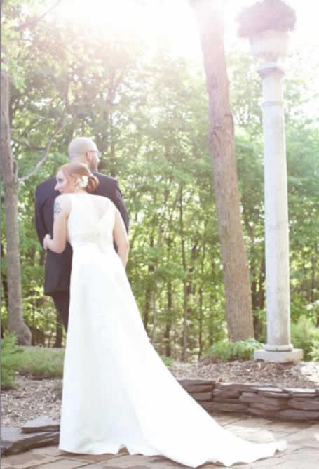 Stroudsmoor Country Inn - Stroudsburg - Poconos - Intimate Wedding - Happy Bride And Groom Enjoying The Surrounding Forest