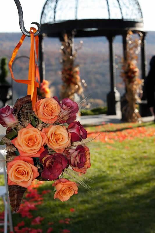 Stroudsmoor Country Inn - Stroudsburg - Poconos - Pocono Mountain Wedding - Gazebo And Flowers