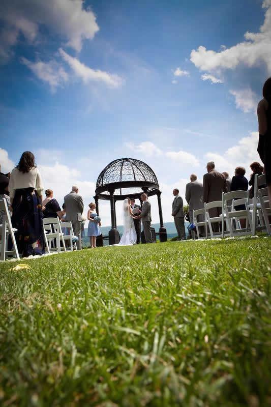 Stroudsmoor Country Inn - Stroudsburg - Poconos - Pocono Mountain Wedding - Bride And Groom Reciting Wedding Vows