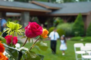 Stroudsmoor Country Inn - Stroudsburg - Poconos - Pocono Outdoor Wedding - Some Wedding Guests On Lawn