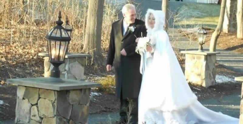 Stroudsmoor Country Inn - Stroudsburg - Poconos - Pocono Winter Wedding - Bride With Father