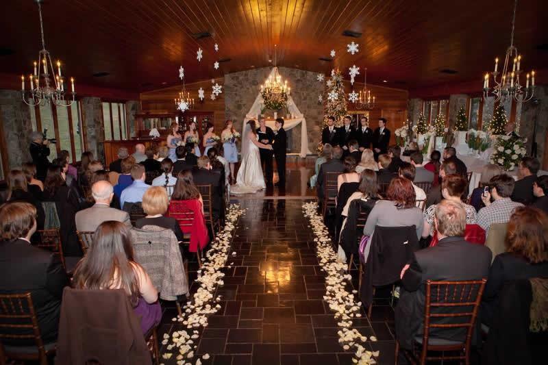 Stroudsmoor Country Inn - Stroudsburg - Poconos - Pocono Winter Wedding - Bride And Groom Reciting Wedding Vows