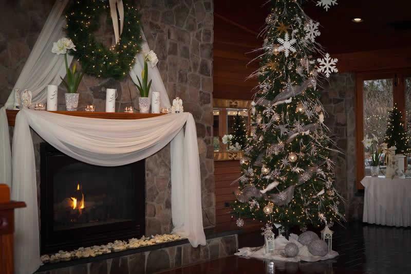 Stroudsmoor Country Inn - Stroudsburg - Poconos - Pocono Winter Wedding - Wedding Decor For Fireplace Mantel
