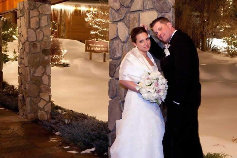 Stroudsmoor Country Inn - Stroudsburg - Poconos - Pocono Winter Wedding - Bride And Groom