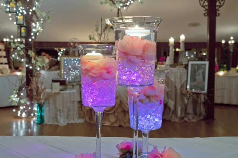Stroudsmoor Country Inn - Stroudsburg - Poconos - Woodlands Outdoor Wedding - Colorful Floating Candles