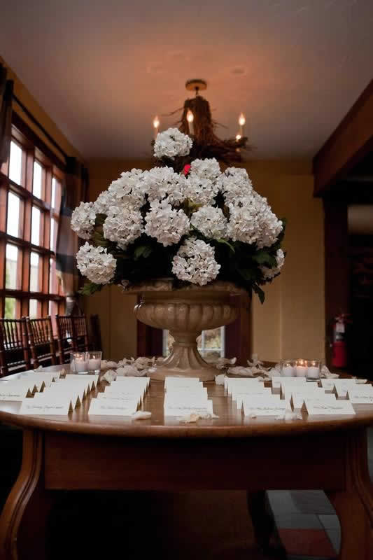 Stroudsmoor Country Inn - Stroudsburg - Poconos - Woodlands Outdoor Wedding - Table Placement Cards