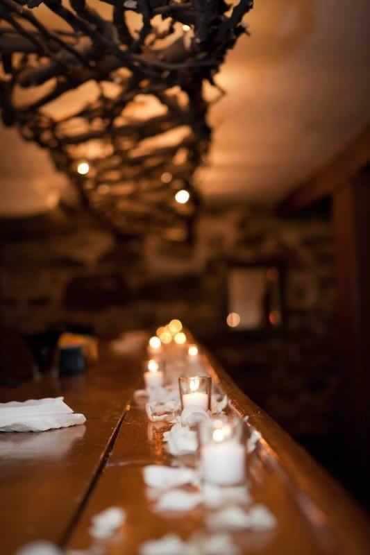 Stroudsmoor Country Inn - Stroudsburg - Poconos - Woodlands Outdoor Wedding - Table Setting