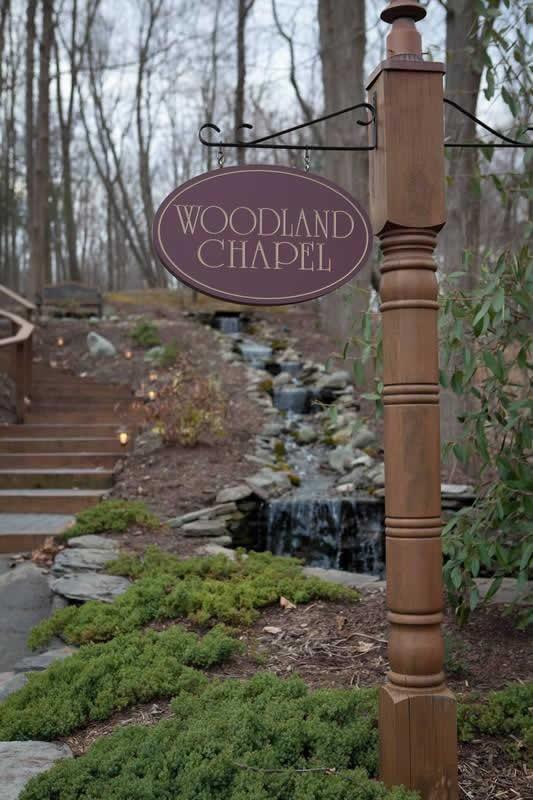 Stroudsmoor Country Inn - Stroudsburg - Poconos - Woodlands Outdoor Wedding - Entrance To Woodland Chapel