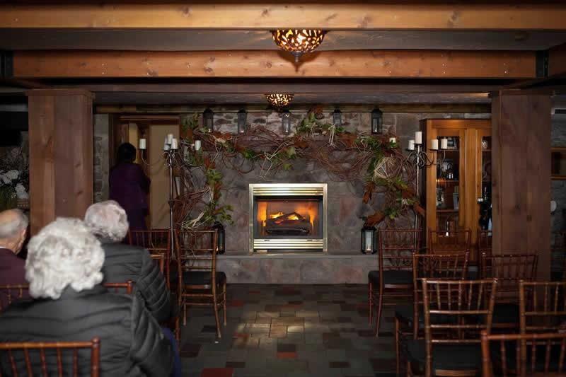 Stroudsmoor Country Inn - Stroudsburg - Poconos - Woodlands Outdoor Wedding - Wedding Guests Seated In Chapel