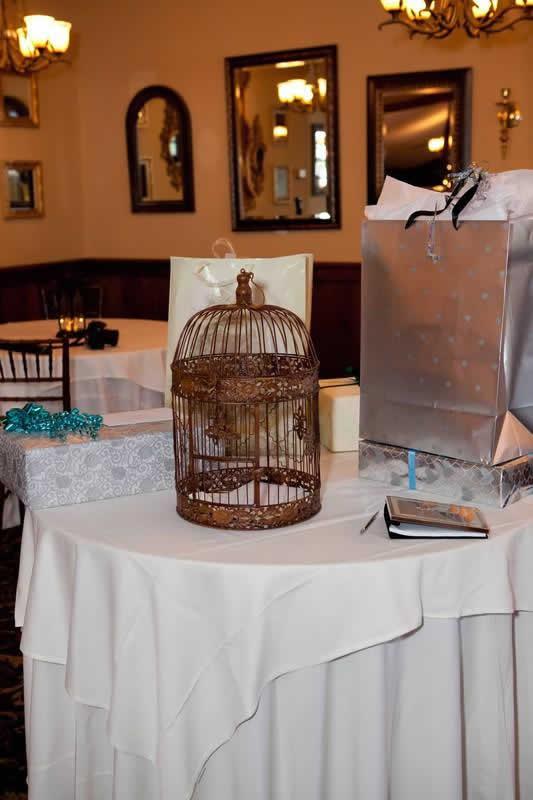 Stroudsmoor Country Inn - Stroudsburg - Poconos - Woodlands Outdoor Wedding - Wedding Gifts On Table