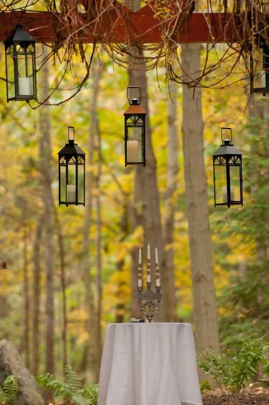 Stroudsmoor Country Inn - Stroudsburg - Poconos - Woodlands Outdoor Wedding - Candles