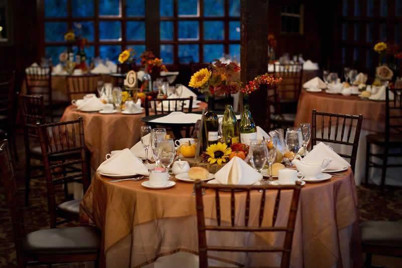 Stroudsmoor Country Inn - Stroudsburg - Poconos - Woodlands Outdoor Wedding - Table Settings - Woodlands Outdoor Wedding