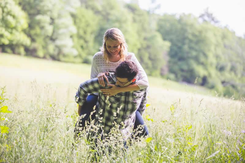 Real Pocono Weddings - Stroudsmoor Country Inn - Poconos Pennsylvania - Couple, piggy back ride