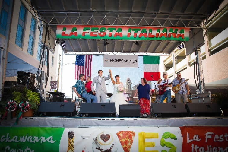 Italian fiesta wedding celebration
