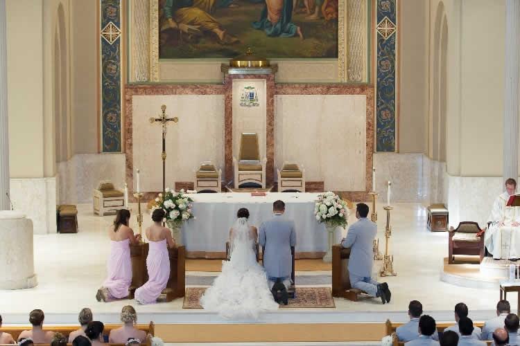 Large chapel wedding