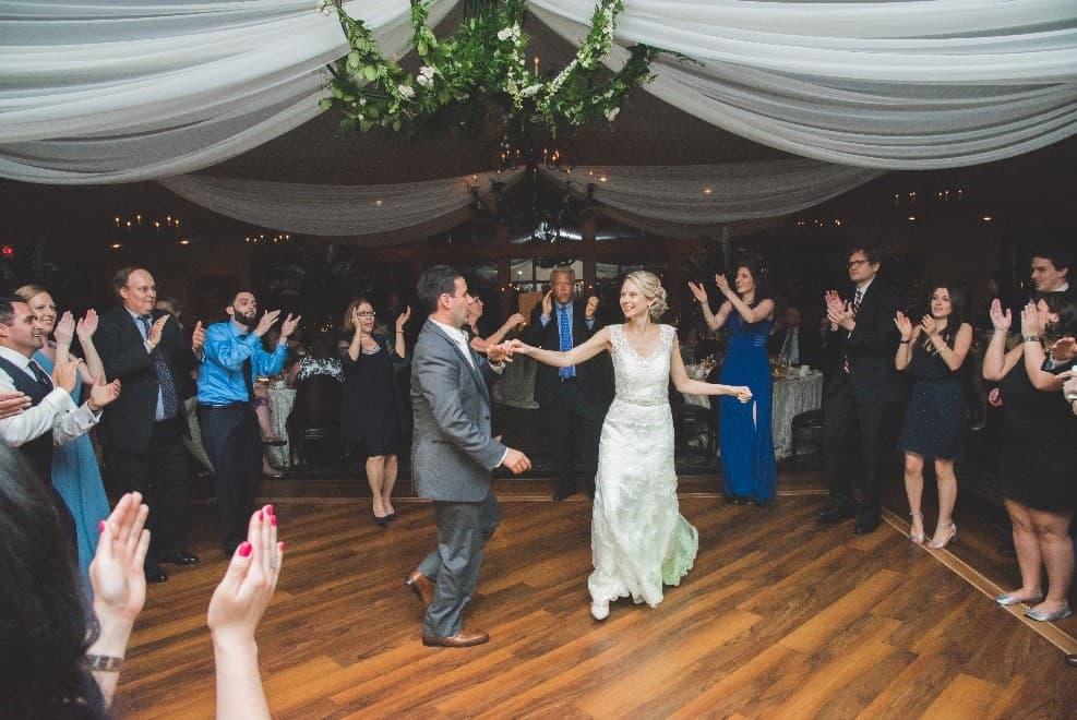 Wedding couple on the dance floor