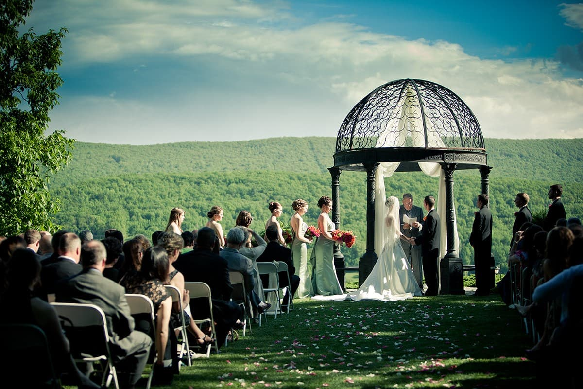Wedding ceremony - couple getting married
