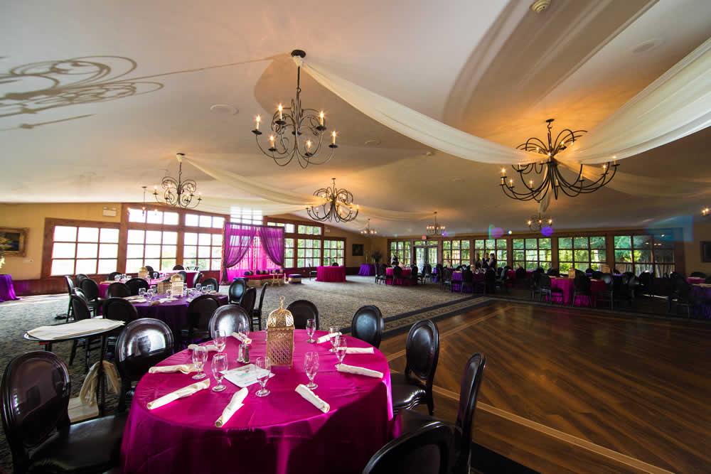 Open reception ballroom with dance floor
