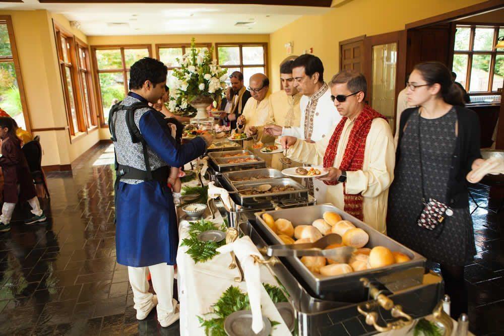 Wedding reception buffet