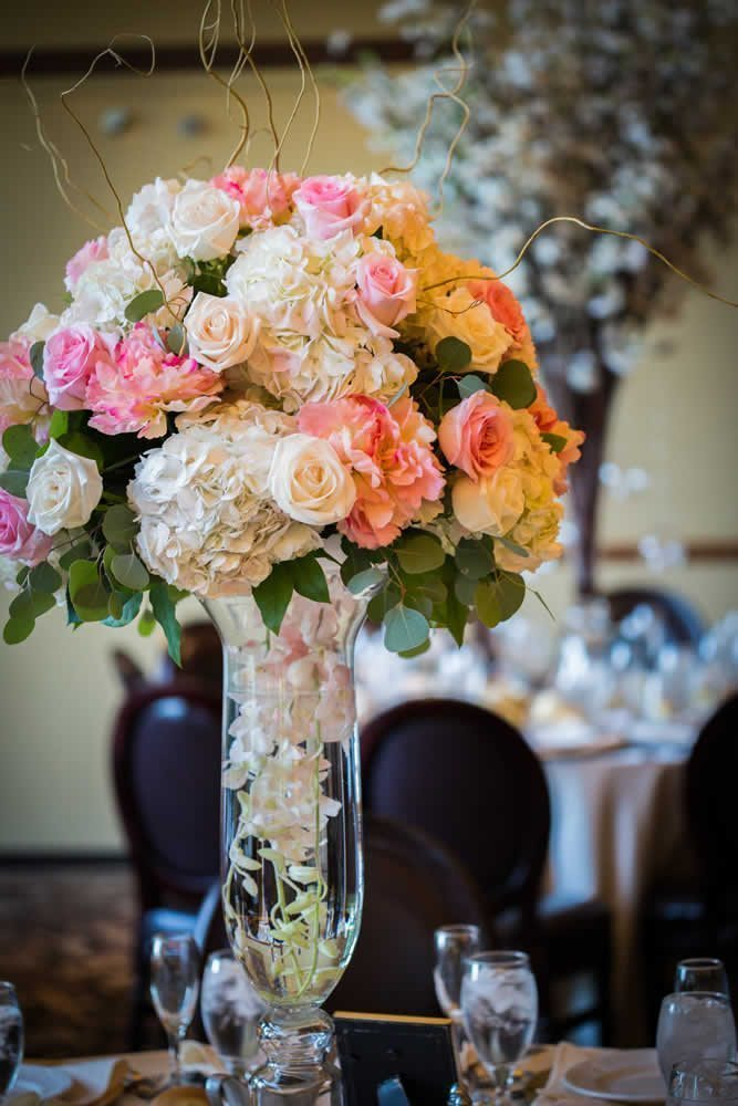 Table centerpiece with beautiful flowers