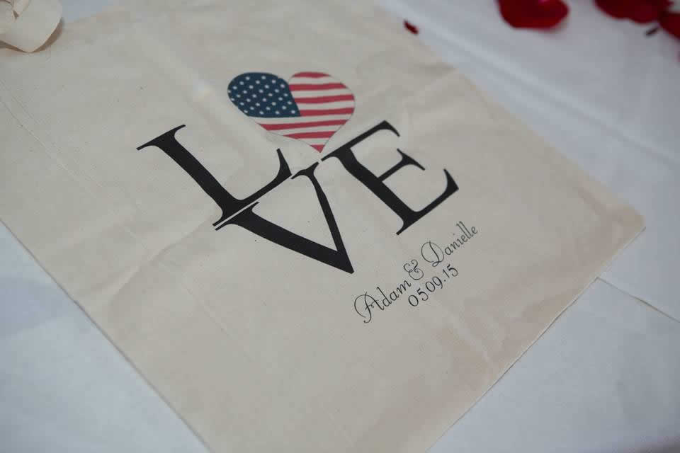 American Flag Theme table covering