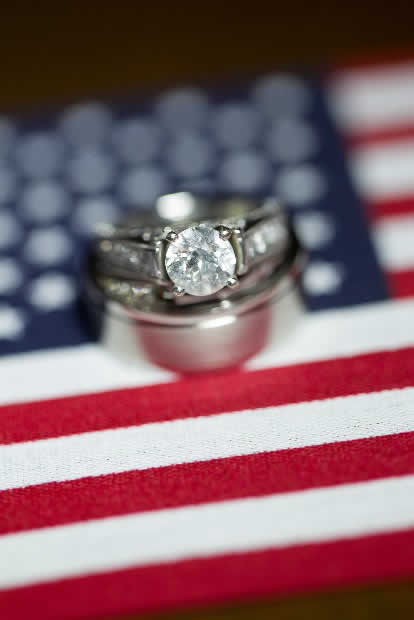 Rings on an American Flag