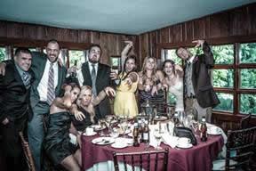 Zombie theme wedding party