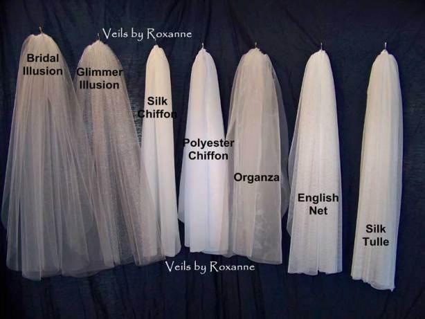 Wedding veils hanging