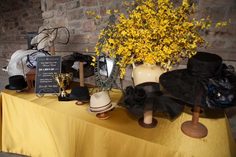 Veils and Hats on a table