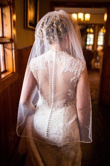 Long flowing veil