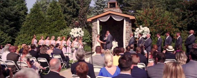 Wedding ceremony - outdoor wedding - Pocono wedding