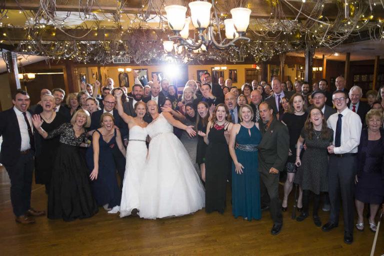 Wedding reception - guests posing