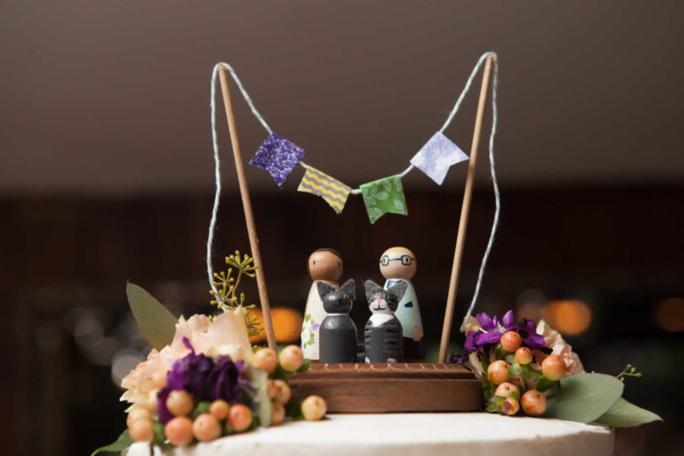 Decoration on top of the wedding cake