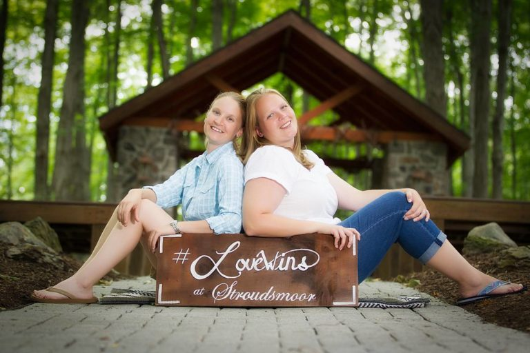 Love wins at Stroudsmoor Country Inn - Couple Posing