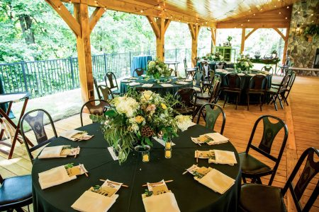Centerpiece on table floral and decor