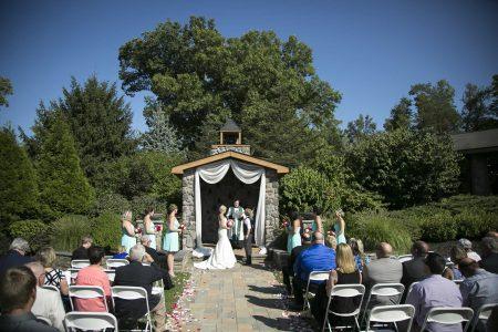 Outside wedding Lawnhaven LGBTQ